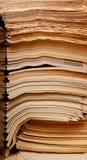 Oude kranten en tijdschriften stock afbeelding