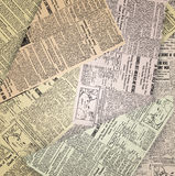 Oude krantenachtergrond Stock Foto
