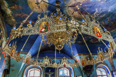 Oude Kroonluchterpastorie Heilige Michael VydubytskAncient Basilica Vydubytsky Monastery Kiev de Oekraïne Royalty-vrije Stock Fotografie