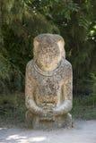 Oude kurgan stelae in de zoölogische tuin van de Nationale Reserve askania-Nova, de Oekraïne, steenbaba's Stock Foto