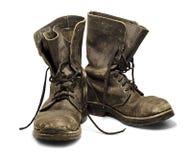 Oude laarzen Stock Afbeeldingen