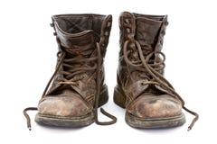 Oude laarzen Stock Foto