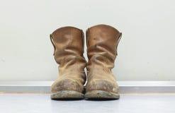 Oude laarzen Royalty-vrije Stock Foto