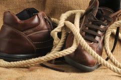 Oude laarzen Royalty-vrije Stock Afbeeldingen