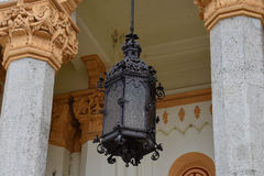 Oude Lamp Heilige Spyridon de Nieuwe Kerk Stock Foto's