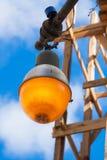 Oude lamp van weg, Havana Cuba royalty-vrije stock foto's