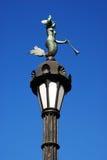 Oude lamppost met meermin Royalty-vrije Stock Foto's