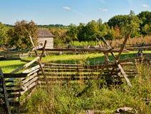 Oude landbouwbedrijfomheiningen Stock Foto's
