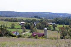 Oude landbouwbedrijven en gebieden royalty-vrije stock foto