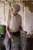 Oude landbouwer Stock Afbeeldingen