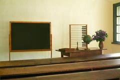 Oude landelijke school Stock Foto