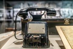 Oude landline telefoons royalty-vrije stock foto