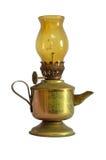Oude lantaarn die op wit wordt geïsoleerde Stock Afbeelding