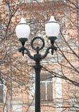 Oude lantaarnpaal Stock Foto's