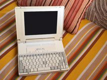 Oude laptop Stock Foto's