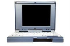Oude laptop op een witte achtergrond Royalty-vrije Stock Foto's
