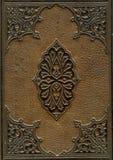 Oude leer verbindende Bijbel stock afbeeldingen
