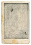 Oude lege fotoprentbriefkaar Uitstekende grunge gebruikte document textuur Stock Afbeeldingen