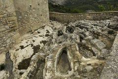 Oude lege graven royalty-vrije stock afbeeldingen