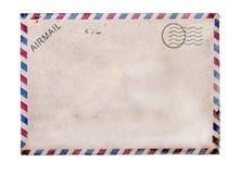 Oude lege prentbriefkaar witte achtergrond stock fotografie