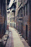 Oude lege straat van Bhaktapur in Nepal royalty-vrije stock foto