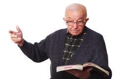 Oude leraar stock afbeelding