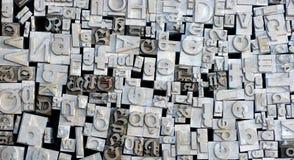 Oude letterzetsel Duitse brieven Royalty-vrije Stock Afbeelding