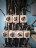 Oude Lichte Schakelaar Stock Foto's