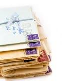 Oude Liefdebrieven Stock Foto's