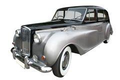 Oude limousine royalty-vrije stock foto's