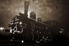 Oude locomotief royalty-vrije stock foto's