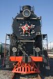Oude locomotief stock afbeelding