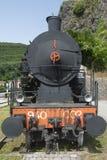 Oude locomotief in Toscanië Stock Afbeeldingen