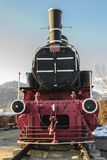 Oude locomotief van Petrosani Stock Afbeelding