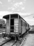 Oude lorrietrein en spoorweg Royalty-vrije Stock Foto