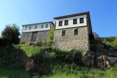 Oude Macedonische architectuur Royalty-vrije Stock Afbeelding