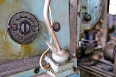 Oude machinecontroles stock foto's