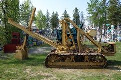 Oude machines van goldrushdagen op de yukongebieden royalty-vrije stock afbeelding
