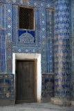 Oude madrassa in Oezbekistan Stock Afbeeldingen