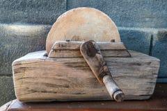 Oude malende steen Stock Foto