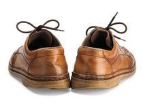 Oude man schoenen Royalty-vrije Stock Foto