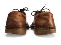 Oude man schoenen Stock Afbeeldingen