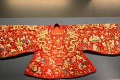 Oude Manchu-kleren stock afbeelding