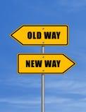Oude manier - nieuwe manier Royalty-vrije Stock Afbeeldingen