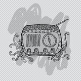 Oude manier uitstekende radio Royalty-vrije Illustratie