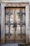 Oude manierdeur met slot Stock Fotografie