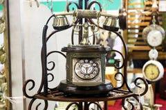 Oude maniertelefoon Stock Foto