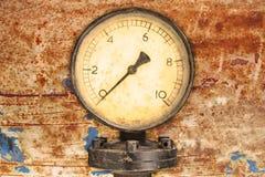 Oude manometer van de de industrievertoning Royalty-vrije Stock Afbeelding