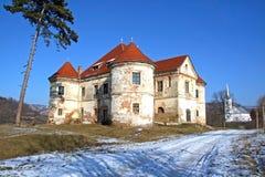 Oude manor in het land royalty-vrije stock foto