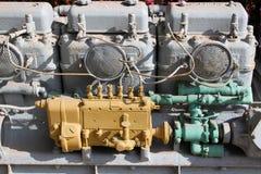 Oude mariene motor Stock Foto